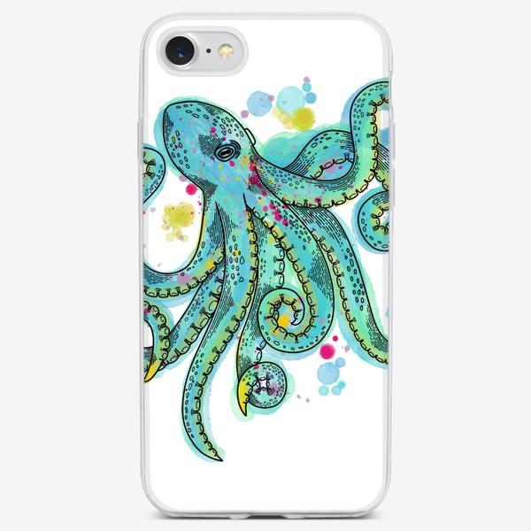 Чехол iPhone «Бирюзовый осьминог»