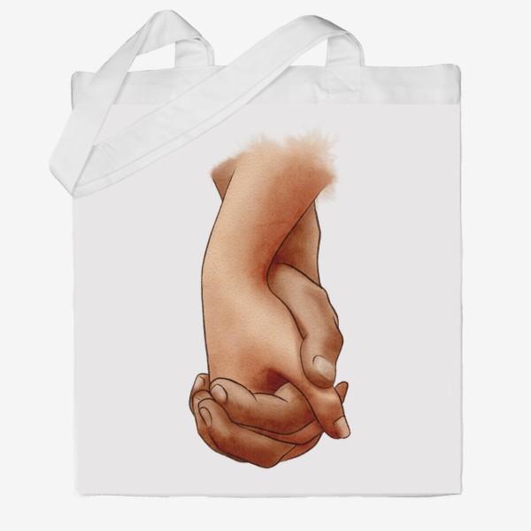 Сумка хб «Руки влюбленных, пара»