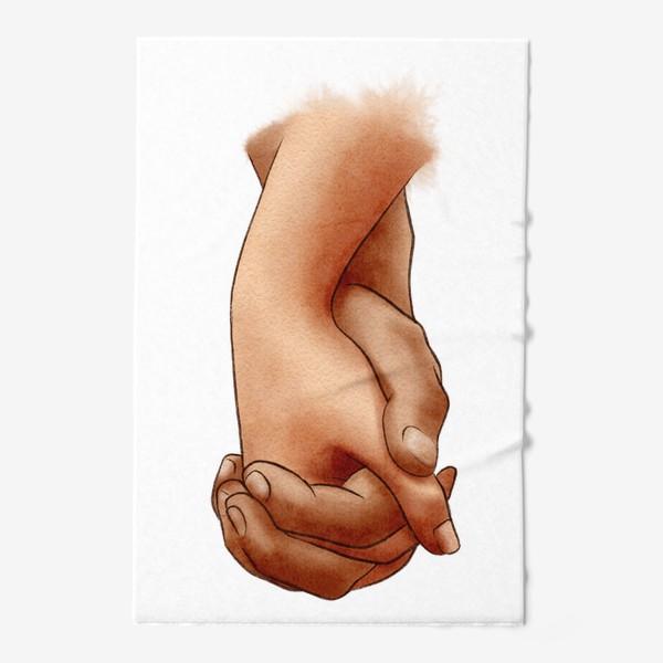 Полотенце «Руки влюбленных, пара»