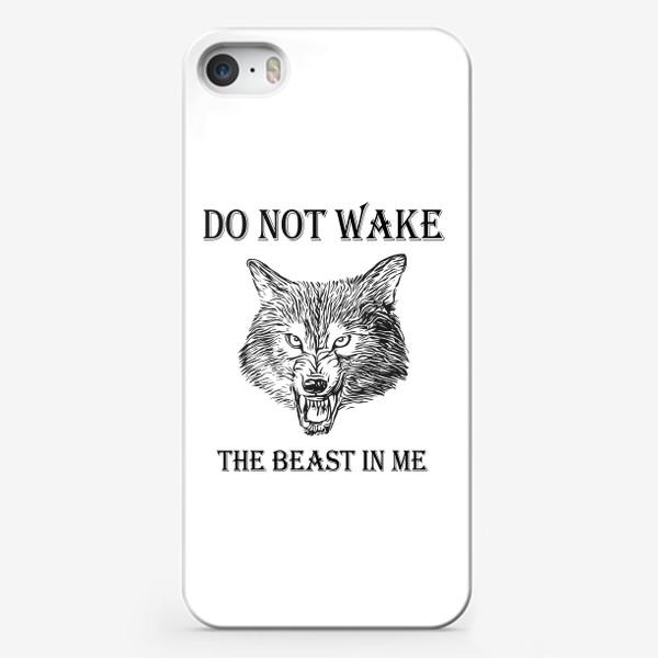 Чехол iPhone «НЕ БУДИ ВО МНЕ ЗВЕРЯ. МУЖСКОЙ ПРИНТ»