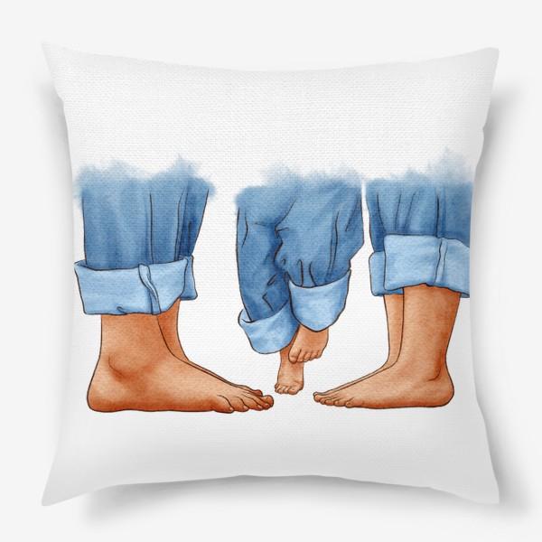 Подушка «Ноги, семья»