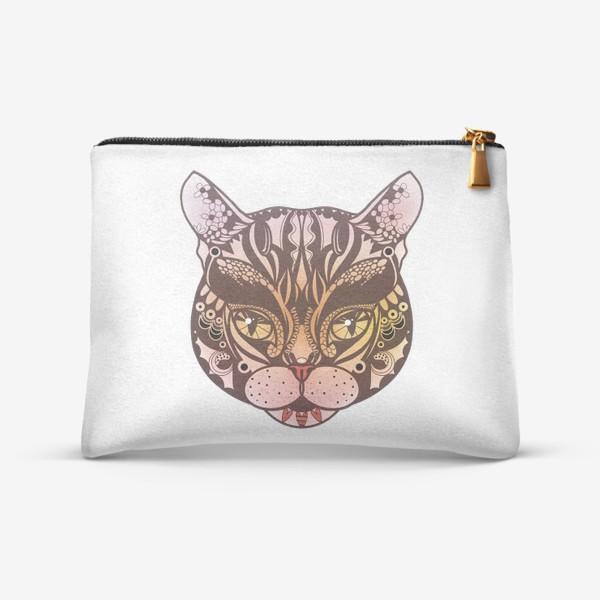 Косметичка «Розово-желтый котик»