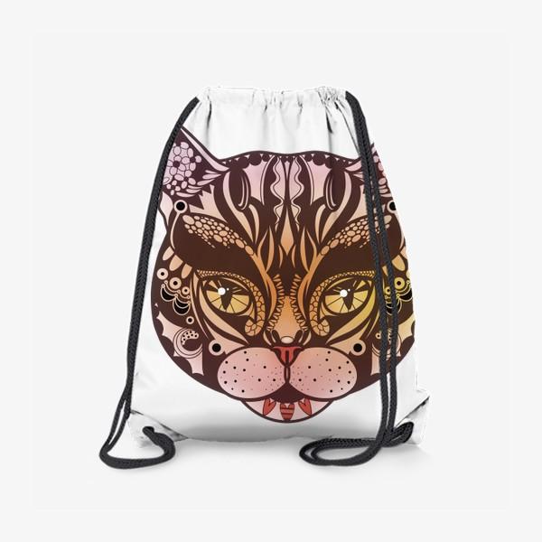 Рюкзак «Розово-желтый котик»