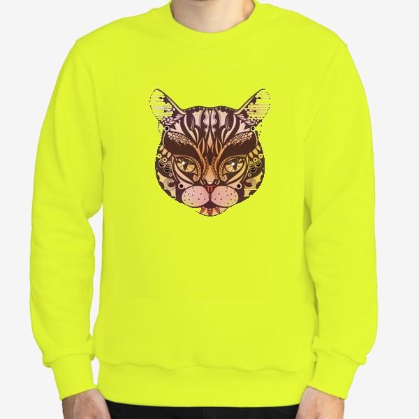 Свитшот «Розово-желтый котик»