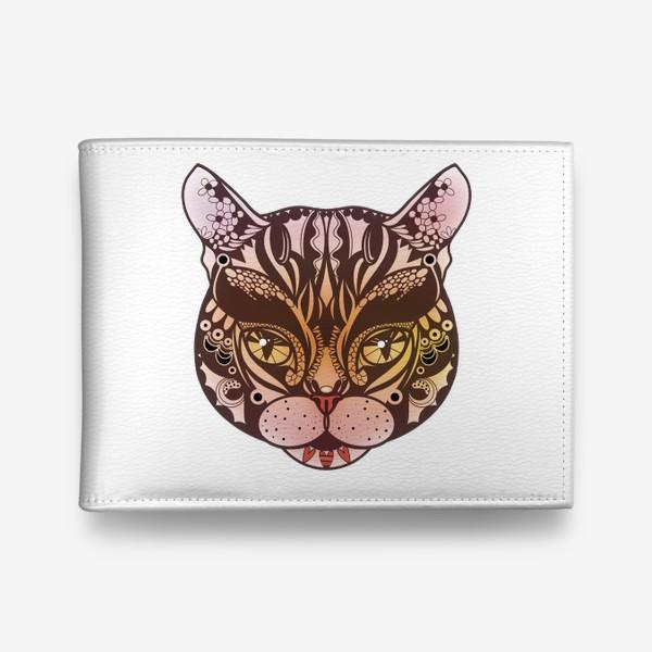 Кошелек «Розово-желтый котик»