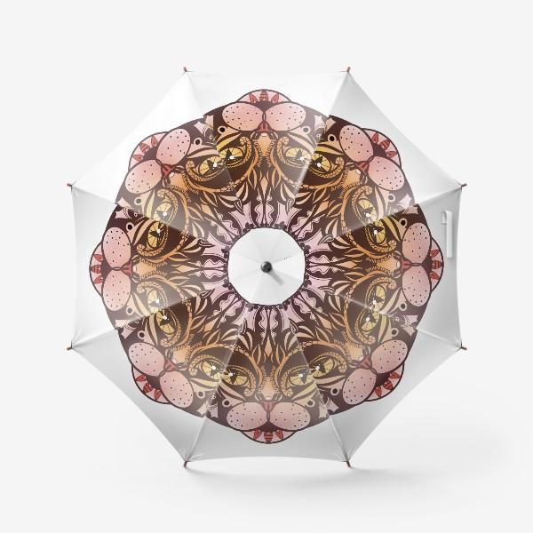 Зонт «Розово-желтый котик»