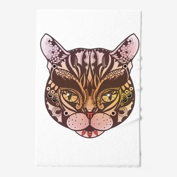 Полотенце «Розово-желтый котик»