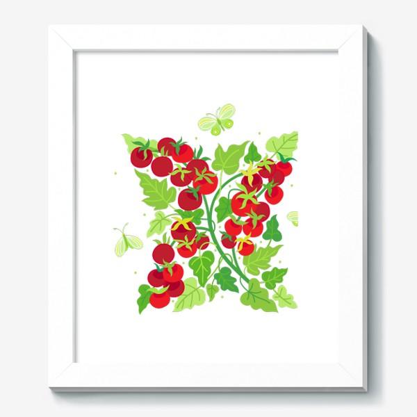 Картина «Помидорки Черри и бабочки капустницы»