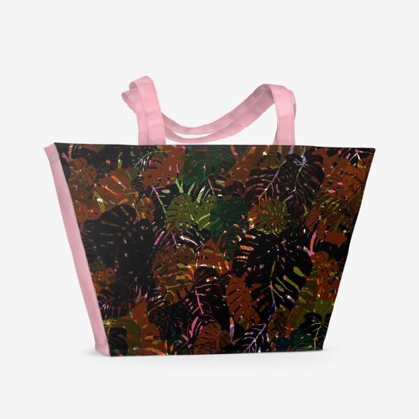 Пляжная сумка «В зарослях Монстеры»