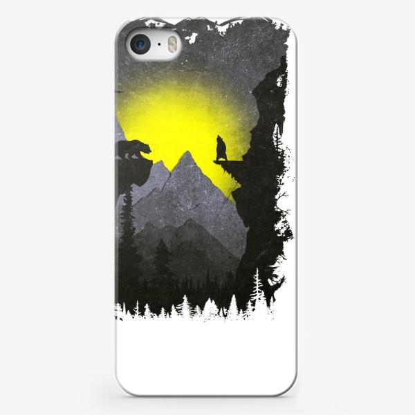 Чехол iPhone «Bears and Owl»
