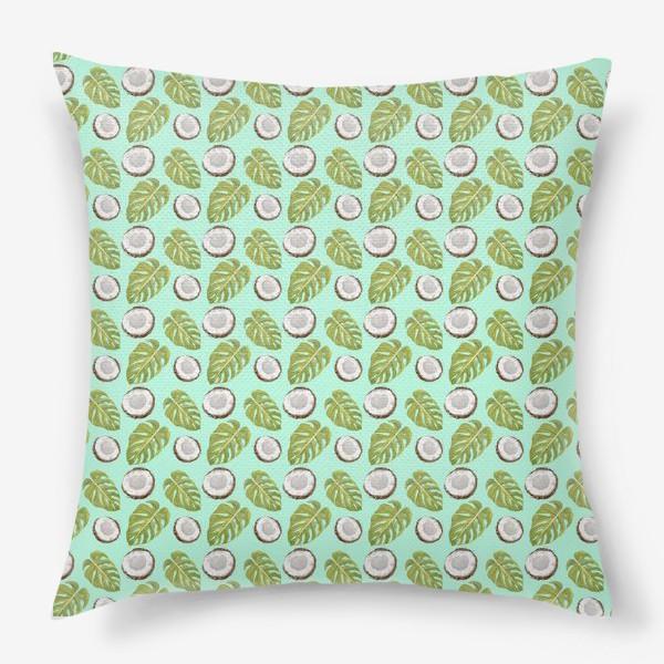Подушка «Кокосы  и листья»