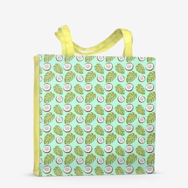 Сумка-шоппер «Кокосы  и листья»