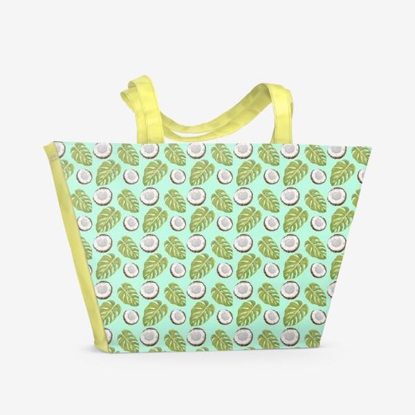 Пляжная сумка «Кокосы  и листья»