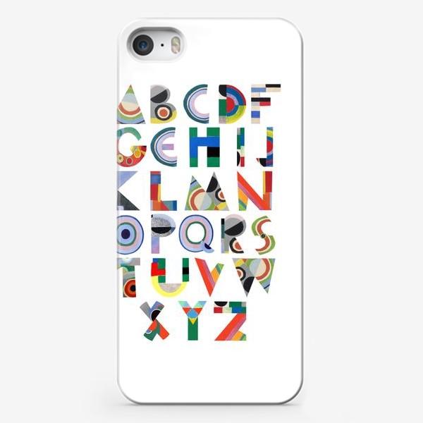 Чехол iPhone «Латинский алфавит по мотивам Sonia Delaunay»