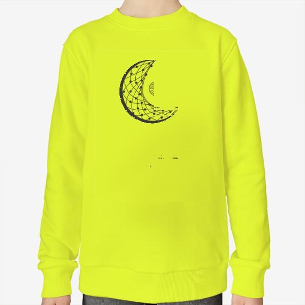 Свитшот «Луна ловец снов с подвеской и летящими перышками»