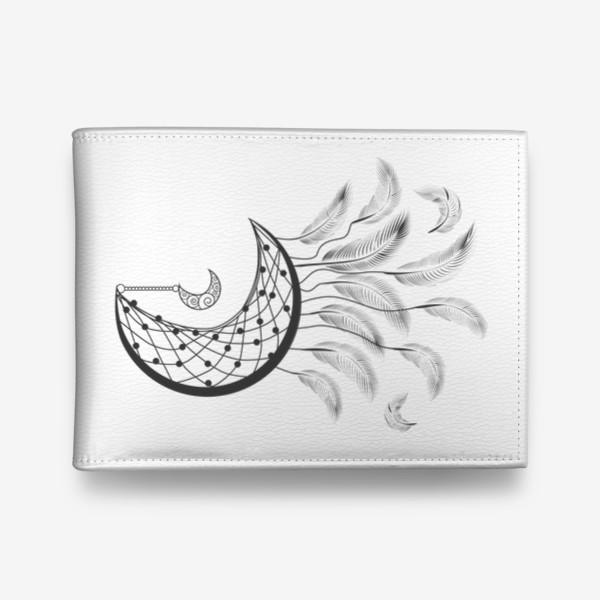 Кошелек «Луна ловец снов с подвеской и летящими перышками»
