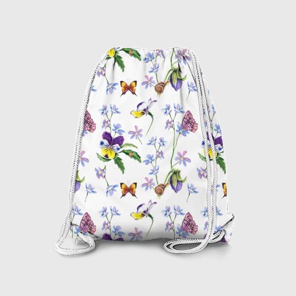 Рюкзак «Бабочки и цветы»