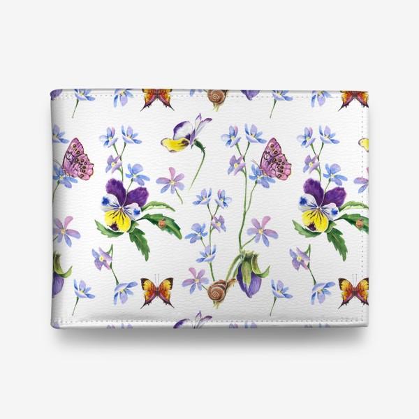 Кошелек «Бабочки и цветы»