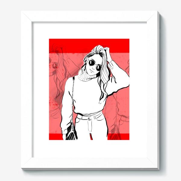 Картина «Девушка на красном»
