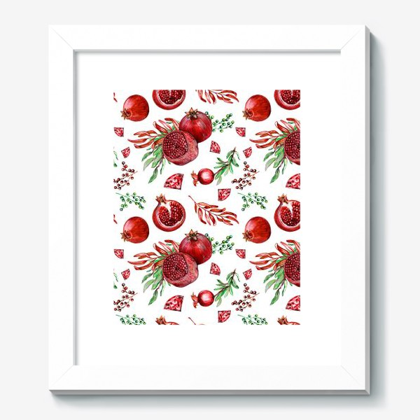Картина «Гранаты и рубины на белом фоне»