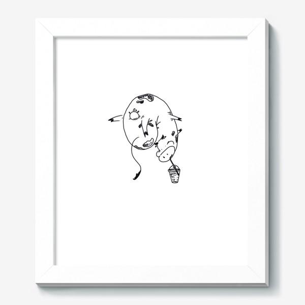 Картина «Корова пьет молочный коктейль. Непереносимость лактозы»