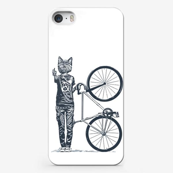 Чехол iPhone «Fixie Cat Punk Rider»