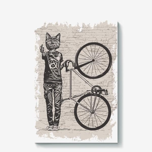 Холст «Fixie Cat Punk Rider»