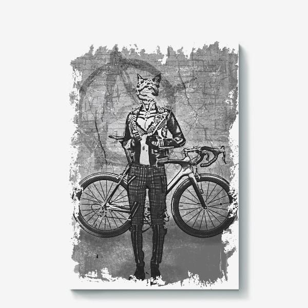 Холст «Punk Cat Rider»