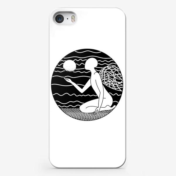 Чехол iPhone «Луна и ангел»