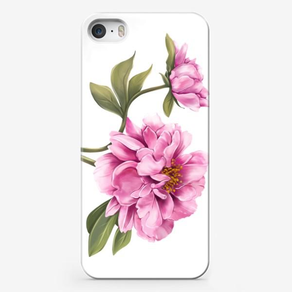 Чехол iPhone «Нежный пион»