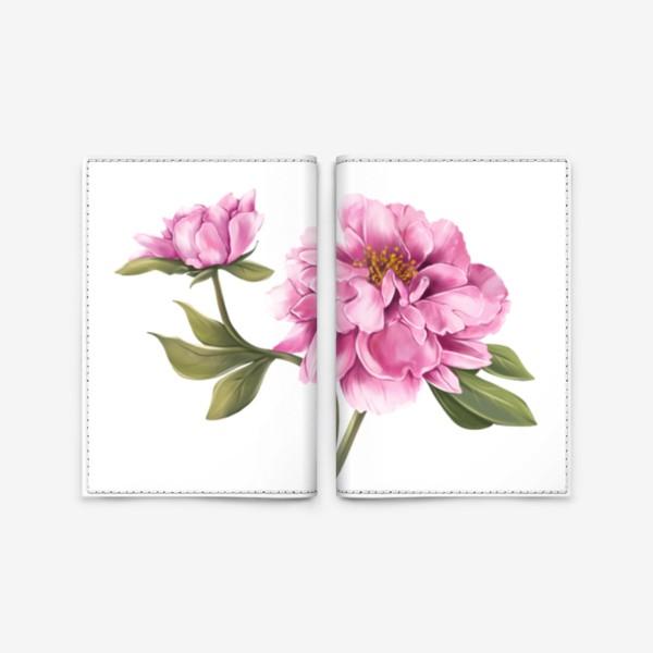 Обложка для паспорта «Нежный пион»