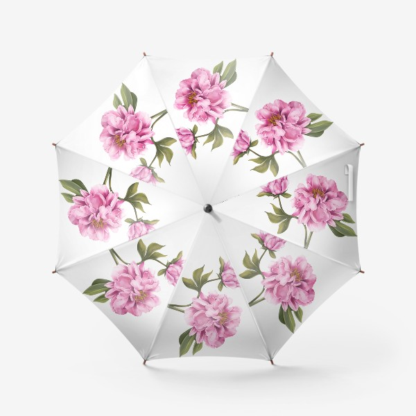 Зонт «Нежный пион»