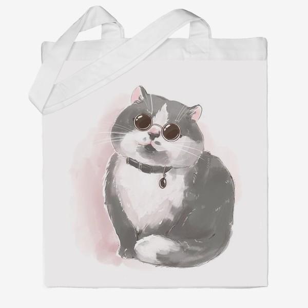 Сумка хб «Кот в очках»