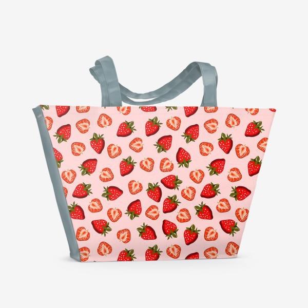 Пляжная сумка «Паттерн клубника»