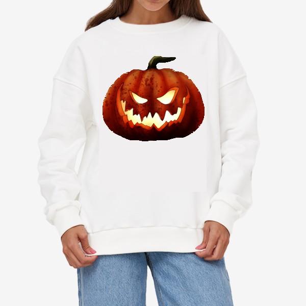 Свитшот «Хэллоуин, жуткая тыква»