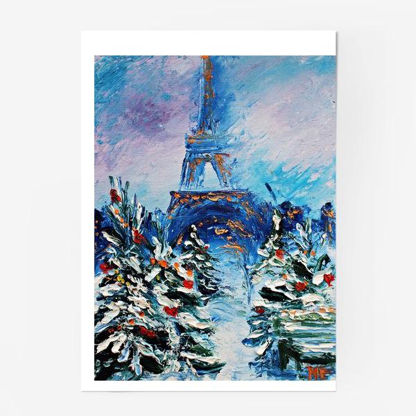 Постер «Новогодний Париж»