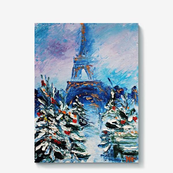 Холст «Новогодний Париж»