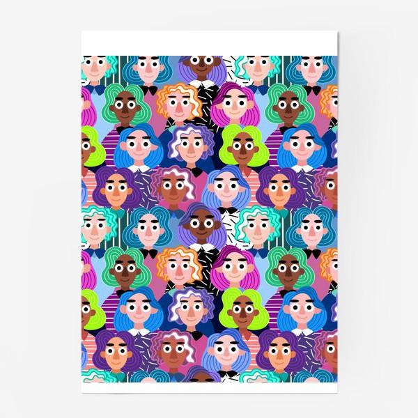 Постер «Девушки с цветными волосами»