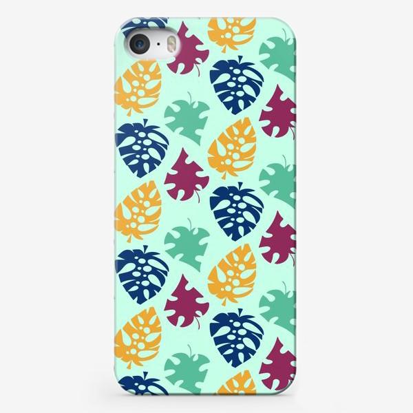 Чехол iPhone «Пестрый тропический листопад»