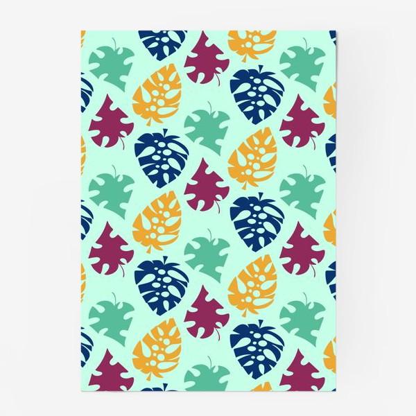 Постер «Пестрый тропический листопад»
