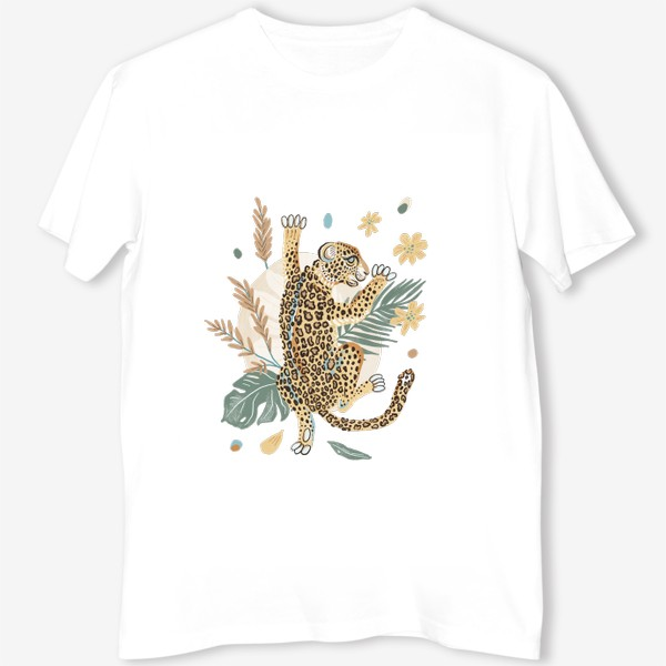 Футболка «Леопард в кустах»