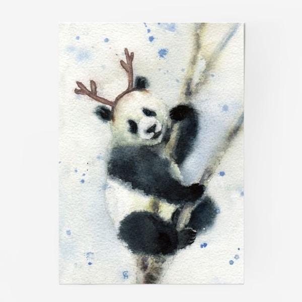 Постер «Новогодняя панда»