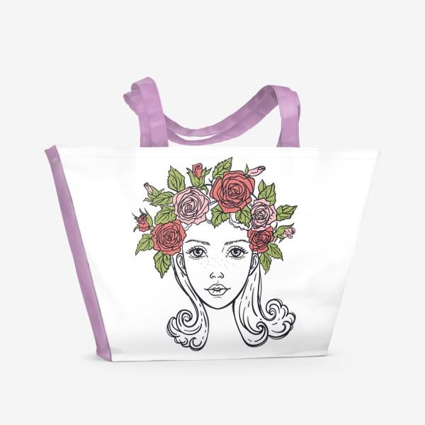 Пляжная сумка «Розы»