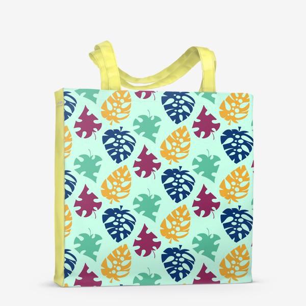 Сумка-шоппер «Пестрый тропический листопад»