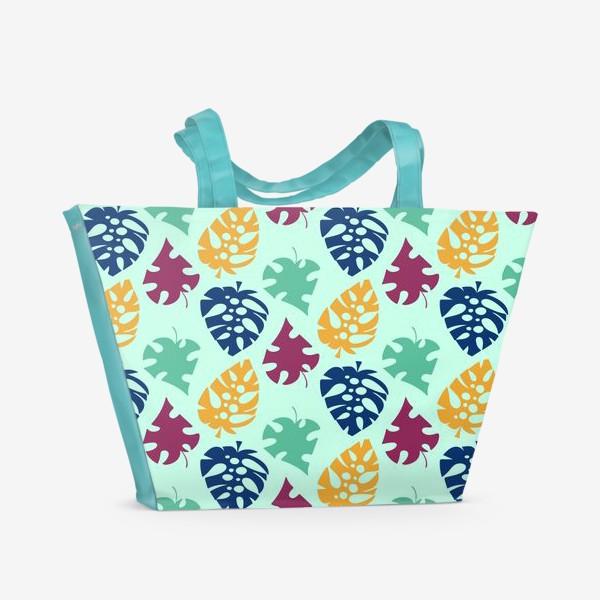 Пляжная сумка «Пестрый тропический листопад»