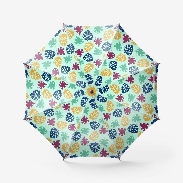 Зонт «Пестрый тропический листопад»