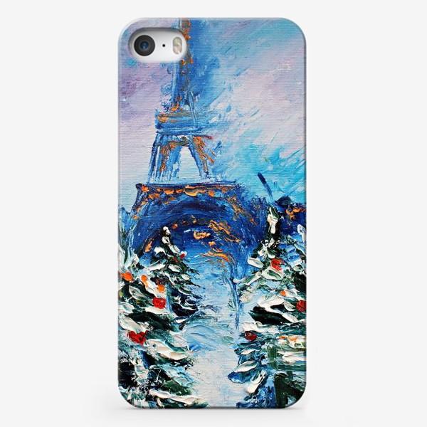 Чехол iPhone «Новогодний Париж»