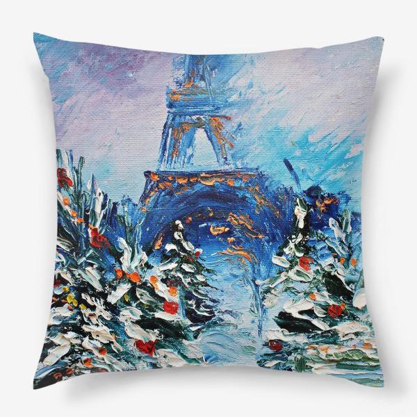 Подушка «Новогодний Париж»