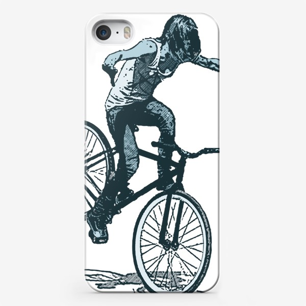Чехол iPhone «Punk Girl Biker»