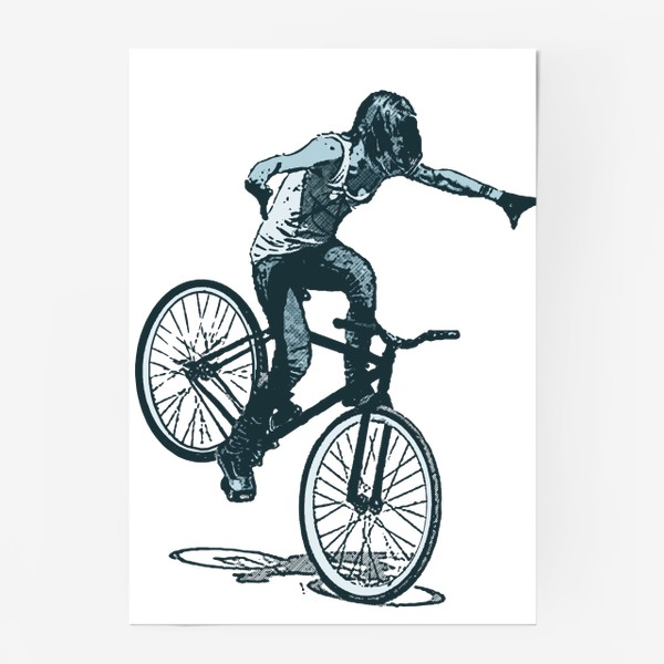Постер «Punk Girl Biker»